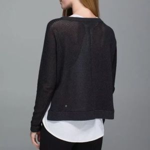 Lululemon Bhakti Life Open Knit Back Sweater